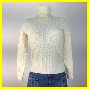 J Crew Women's Sweater Size S Off White